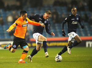 Sky Bet Championship - Millwall v Brighton and Hove Albion - The Den<br>