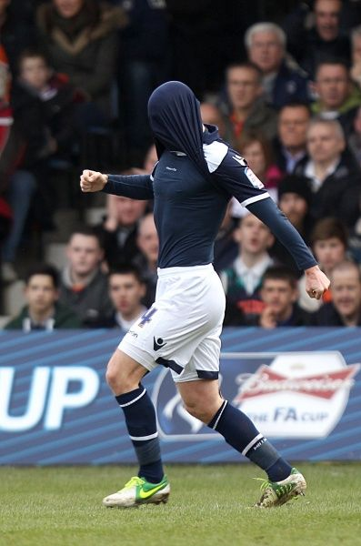 Millwall's James Henry celebrates scoring their first goal of the game