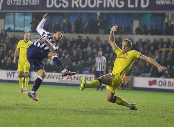 Millwall's Lee Gregory scores his team's third goal