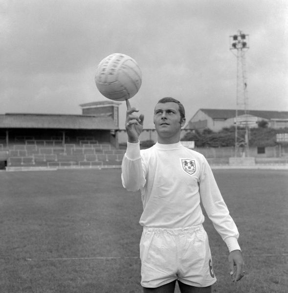 Millwall's Keith Weller, balances a ball during pre-season training at The Den