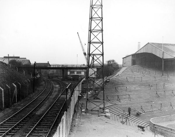 A view of the train tracks which run past The Den, home to Millwall F.C