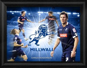 Darius Henderson Millwall FC Framed Player Montage Print