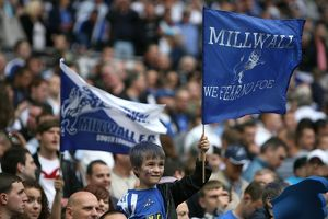 millwall v swindon league play off final/fans/soccer coca cola football league play off