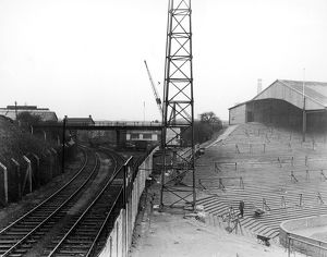 A view of the train tracks which run past The Den, home to Millwall F.C.